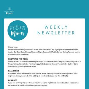 Newsletter   Sunday 16th October