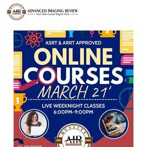 Online Classes Begin In 2 Weeks