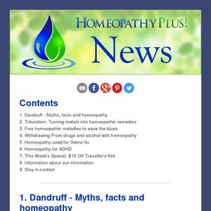 Latest News from Homeopathy Plus -- 20/2/15