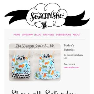 Today S Tutorial Free Catch All Baby Bib Tutorial And
