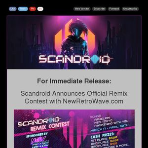 Scandroid Announces Official Synthwave Remix Contest with