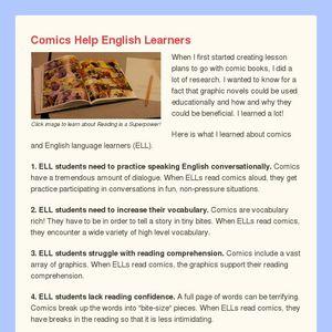 Comics and English Learners Blog