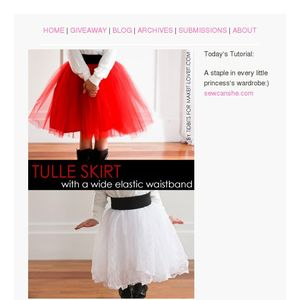 0068f7d1de Today's Tutorial: DIY Tulle Skirt and Sewlebrity Sewalong