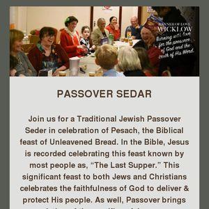 Passover Sedar March 30th