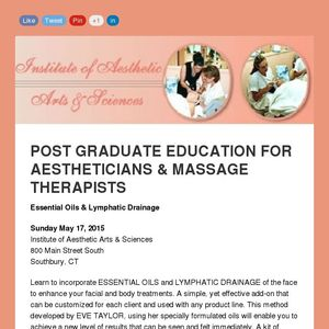 April News from the Institute of Aesthetic Arts & Sciences