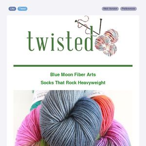 blue moon fiber arts socks that rock heavyweight plus upcoming classes