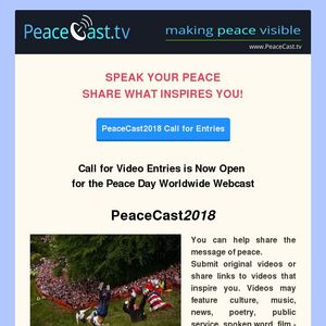 PeaceCast 2018 Call for Video Entries