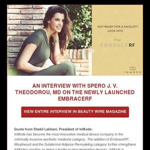 AN INTERVIEW WITH SPERO J  V  THEODOROU, MD ON THE NEWLY