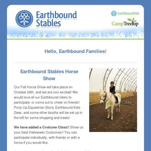 Earthbound Stables Newsletter- October 2018