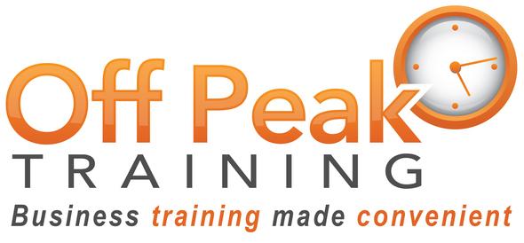 Off peak training logo tagline