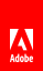 Adobe red tag logo screen top