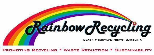 Rainbow recycling color logo